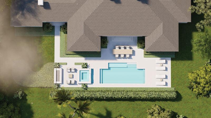 Overhead Pool & Landscape Rendering