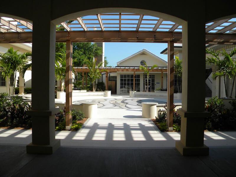 Commercial Church Remodel and Landscape Architecture Vero Beach